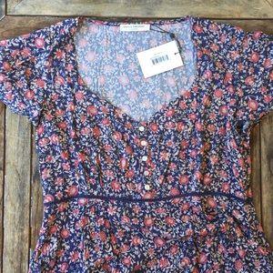 🌿 Spell Jasmine 90's Mini Dress Size L NWT